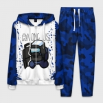 Merchandise - Homewear Men'S Set Swat Among Us White Blue