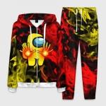 Merch - Fire Mage Homewear Men'S Set Among Us Flames
