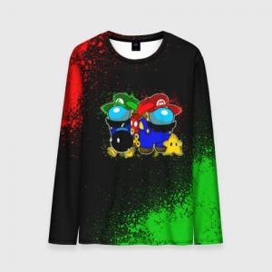 Merchandise Men'S Long Sleeve Among Us Mario Luigi