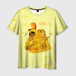 Merch Men'S T-Shirt Among Us Yellow Imposter Pointing