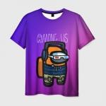 Merch Gradient Men'S T-Shirt Among Us Purple