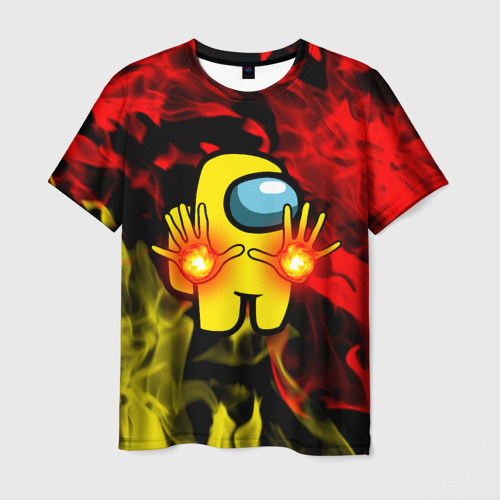 Collectibles Fire Mage Men'S T-Shirt Among Us Flames