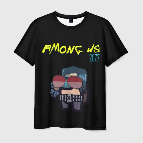 Merch Men'S T-Shirt Among Us X Cyberpunk 2077