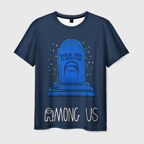 Merchandise Men'S T-Shirt Among Us Grave Epitaph Wasn'T Me