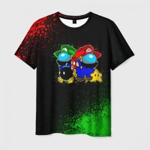 Merchandise Men'S T-Shirt Among Us Mario Luigi