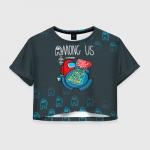 Collectibles - Among Us Women'S Crop-Top Among Us Guess Who Board Game