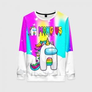 Merch Rainbow Women'S Sweatshirt Unicorn Among Us