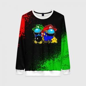 Merchandise Women'S Sweatshirt Among Us Mario Luigi