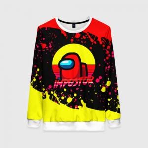 Merchandise Women'S Sweatshirt Among Us Impostor Red Yellow