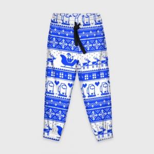 Merchandise Kids Pants Among Us Christmas Pattern