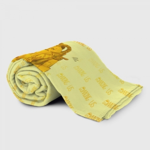 Merch Plaid Throw Among Us Yellow Imposter Pointing