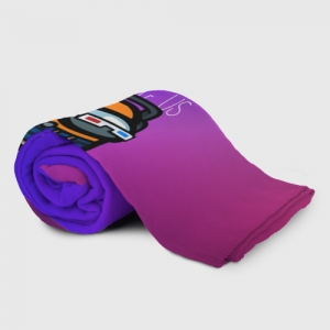 Merch Gradient Plaid Throw Among Us Purple