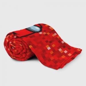 Merch Red Pixel Plaid Throw Among Us 8Bit