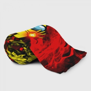 Merch Fire Mage Plaid Throw Among Us Flames