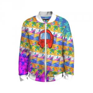 Merchandise Kids Bomber Among Us Pattern Colored