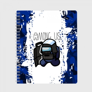 Merchandise Exercise Book Swat Among Us White Blue
