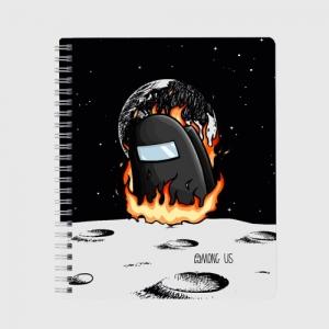 Merchandise Black Exercise Book Among Us Fire