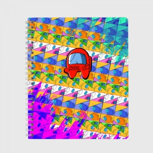 Merchandise Exercise Book Among Us Pattern Colored
