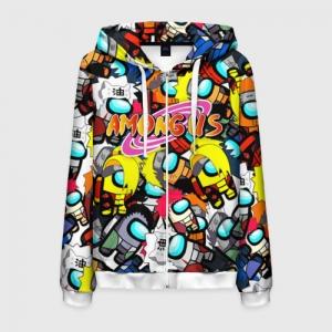 Merchandise Zipper Hoodie Naruto X Among Us Crossover