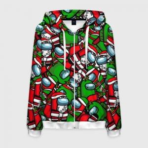 Merchandise Zipper Hoodie Santa Imposter Among Us