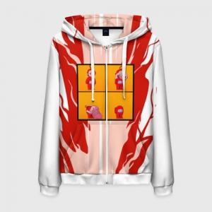 - People 6 Man Hoodie Jacket Front White 500 91