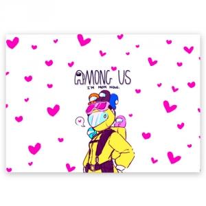Merch Mom Now Postcard Among Us White Heart Emoji