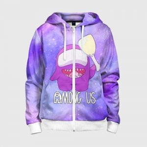 Collectibles Kids Zip-Up Hoodie Among Us Imposter Purple