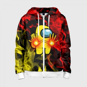 Collectibles Fire Mage Kids Zip-Up Hoodie Among Us Flames
