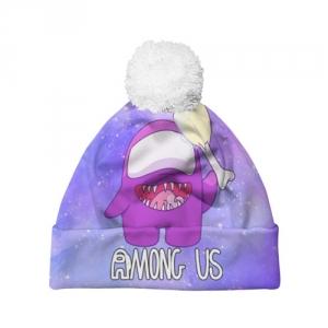 Merch - Pom Pom Beanie Among Us Imposter Purple