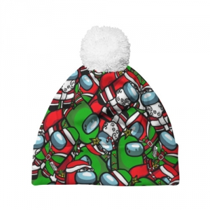 Merchandise Pom Pom Beanie Santa Imposter Among Us