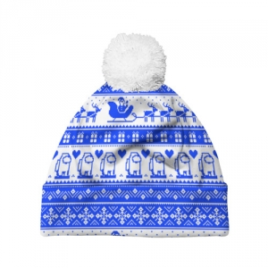 Merchandise Pom Pom Beanie Among Us Christmas Pattern