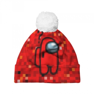 - People 7 Hat Pompom Front White 500 89