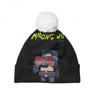 Merchandise Pom Pom Beanie Among Us X Cyberpunk 2077