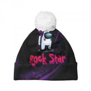 Merchandise Among Us Rock Star Pom Pom Beanie