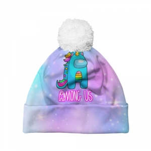 - People 7 Hat Pompom Front White 500 94