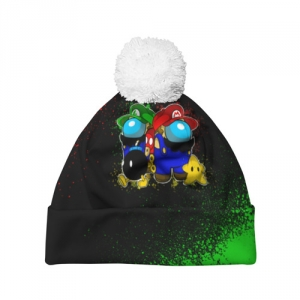 - People 7 Hat Pompom Front White 500 95