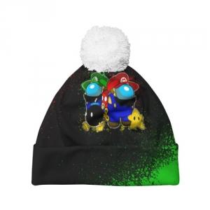 Merchandise Beanie Among Us Mario Luigi