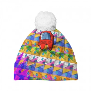 Merchandise Beanie Among Us Pattern Colored