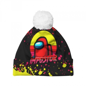 - People 7 Hat Pompom Front White 500 98