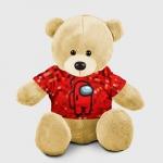 Merchandise - Red Pixel Teddy Bear Among Us 8Bit