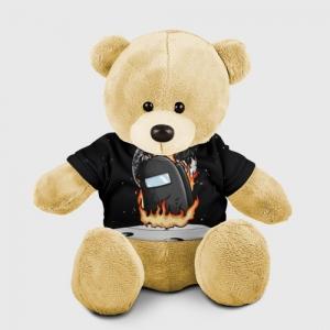 Merchandise Black Teddy Bear Among Us Fire