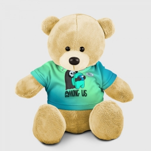 Merchandise Teddy Bear Among Us Death Behind Cyan