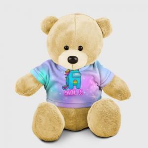 Merchandise Among Us Teddy Bear Rainbow Unicorn