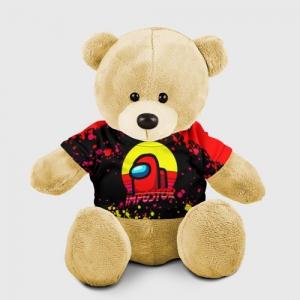 Merchandise Teddy Bear Among Us Impostor Red Yellow