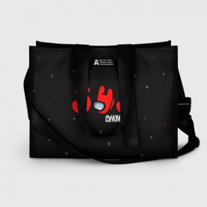 Collectibles Shopping Bag Among Us Sus Red Imposter Black