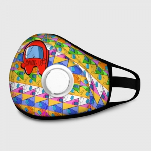 Merchandise Valved Mask Among Us Pattern Colored